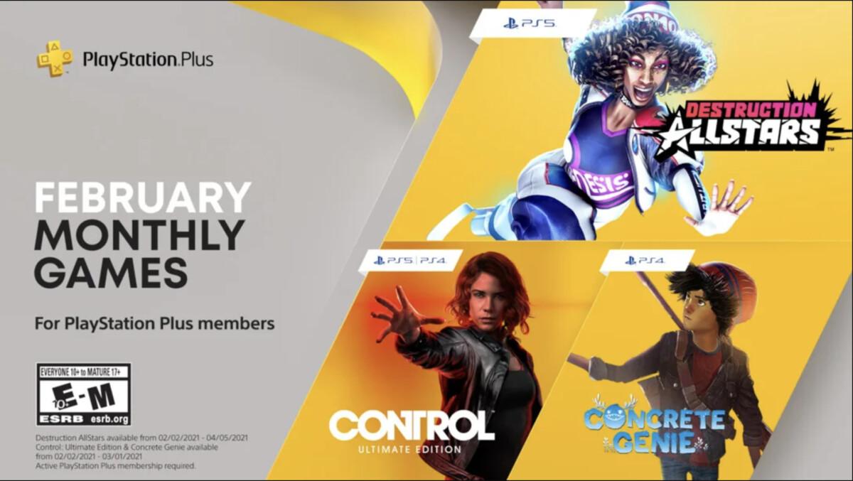 PS Plus : l'exclusivité Destruction AllStars et la version ultimate de Control sont disponibles