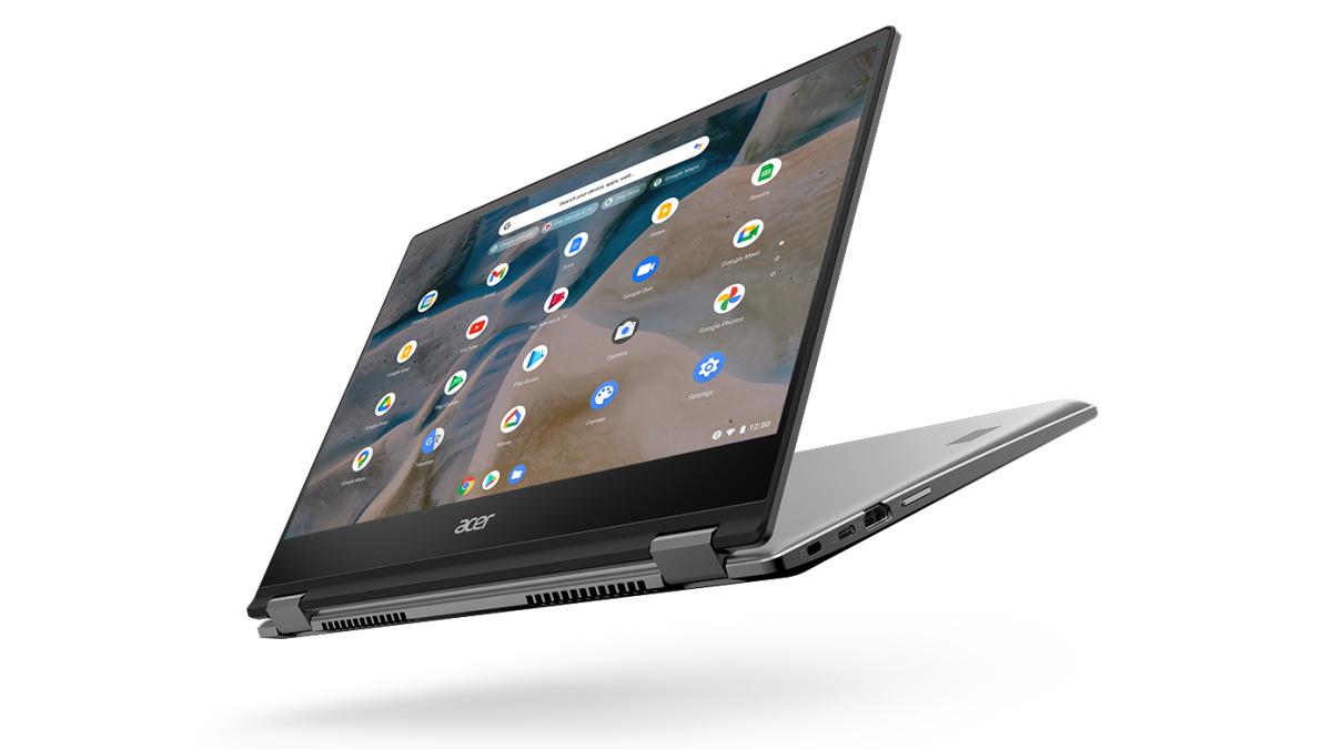 Le Chromebook Spin 514 Acer a une charnière à 360 degrés