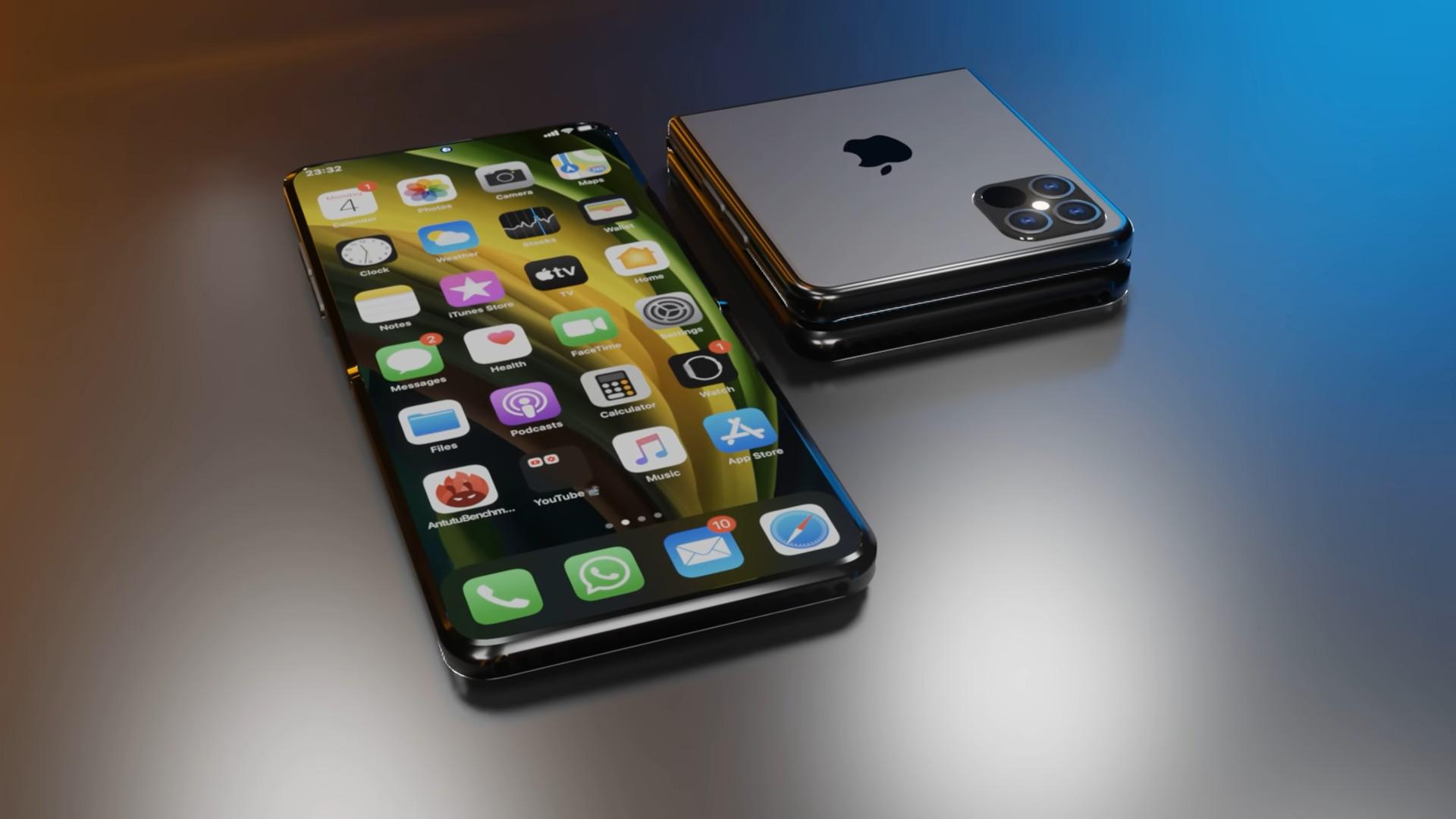 Un concept d'iPhone pliable