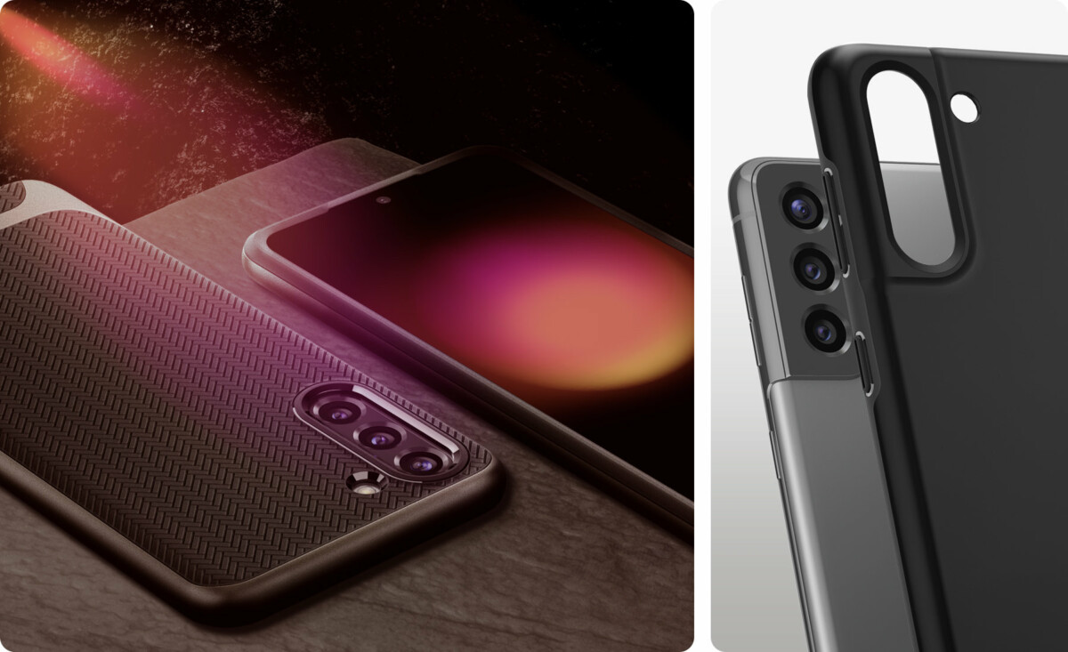 In order, the Neo Hybrid and Thin Fit cases