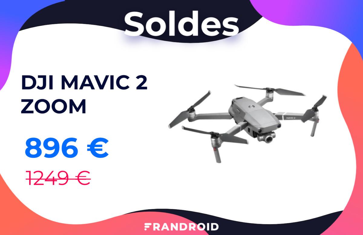 Le drone haut de gamme DJI Mavic 2 Zoom est soldé à moins de 900 €