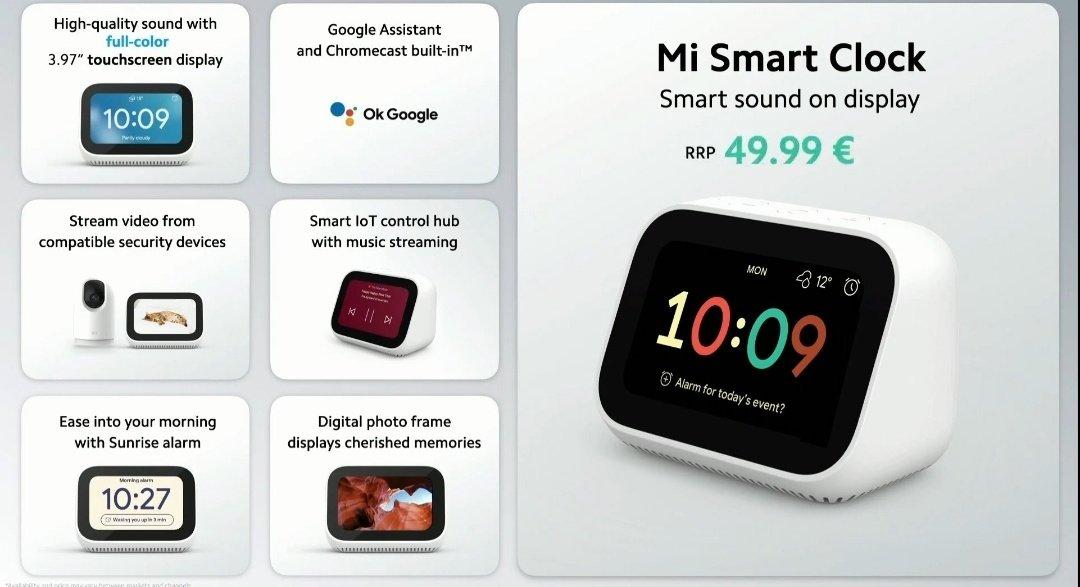 Xiaomi Mi Smart Clock et Mi 360° Home Security Camera 2K Pro : deux produits Google Assistant conçus pour l'international