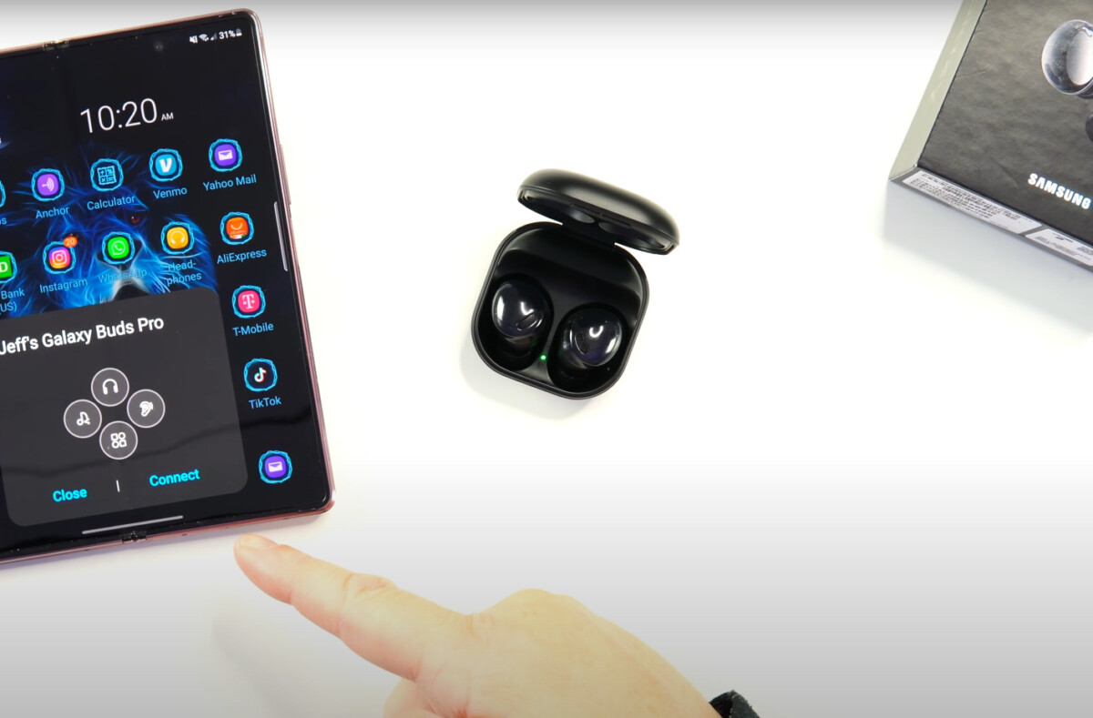 The Samsung Galaxy Buds Pro