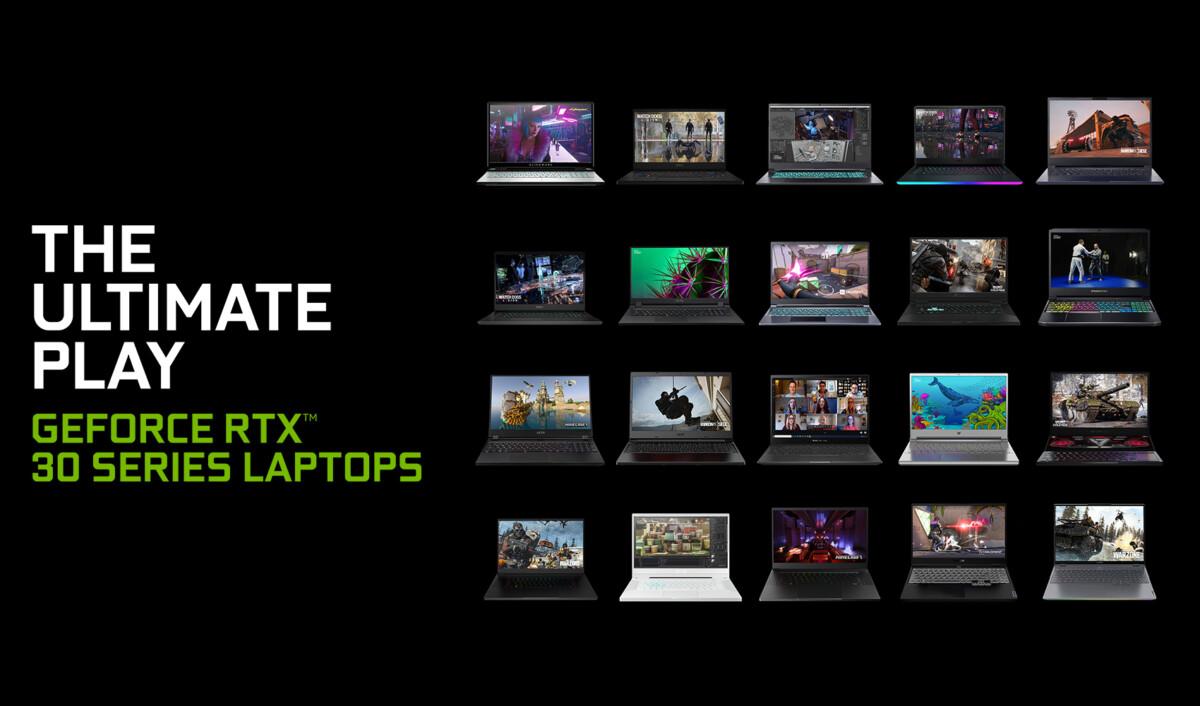 Il existe plus de 70 design différents avec RTX GeForce 30 Mobile // Nvidia