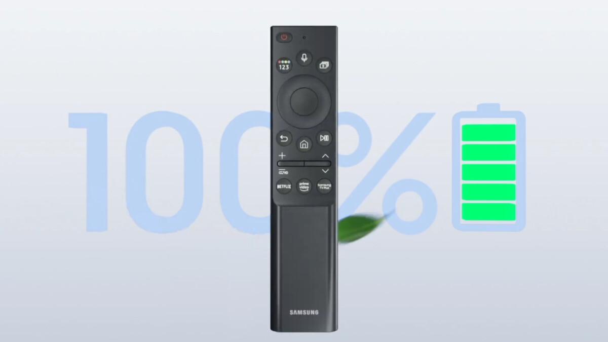 La télécommande à cellule solaire des TV Neo QLED n'a plus besoin de piles