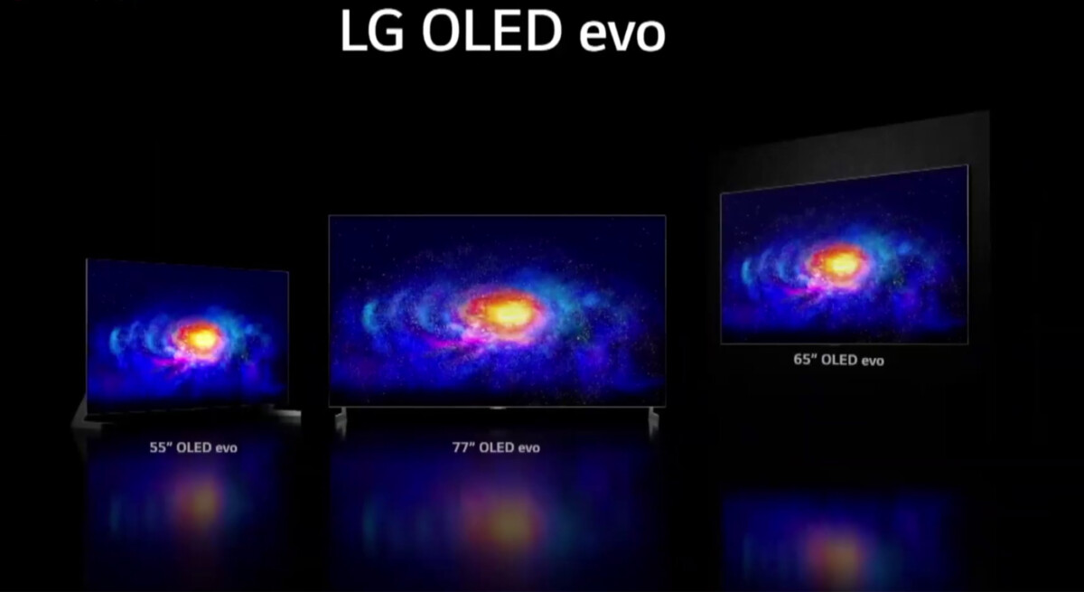 The LG OLED Evo will be available in 55, 65 and 77 inches