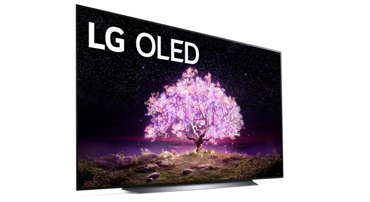 Le LG OLED C1 qui reprend le pied central