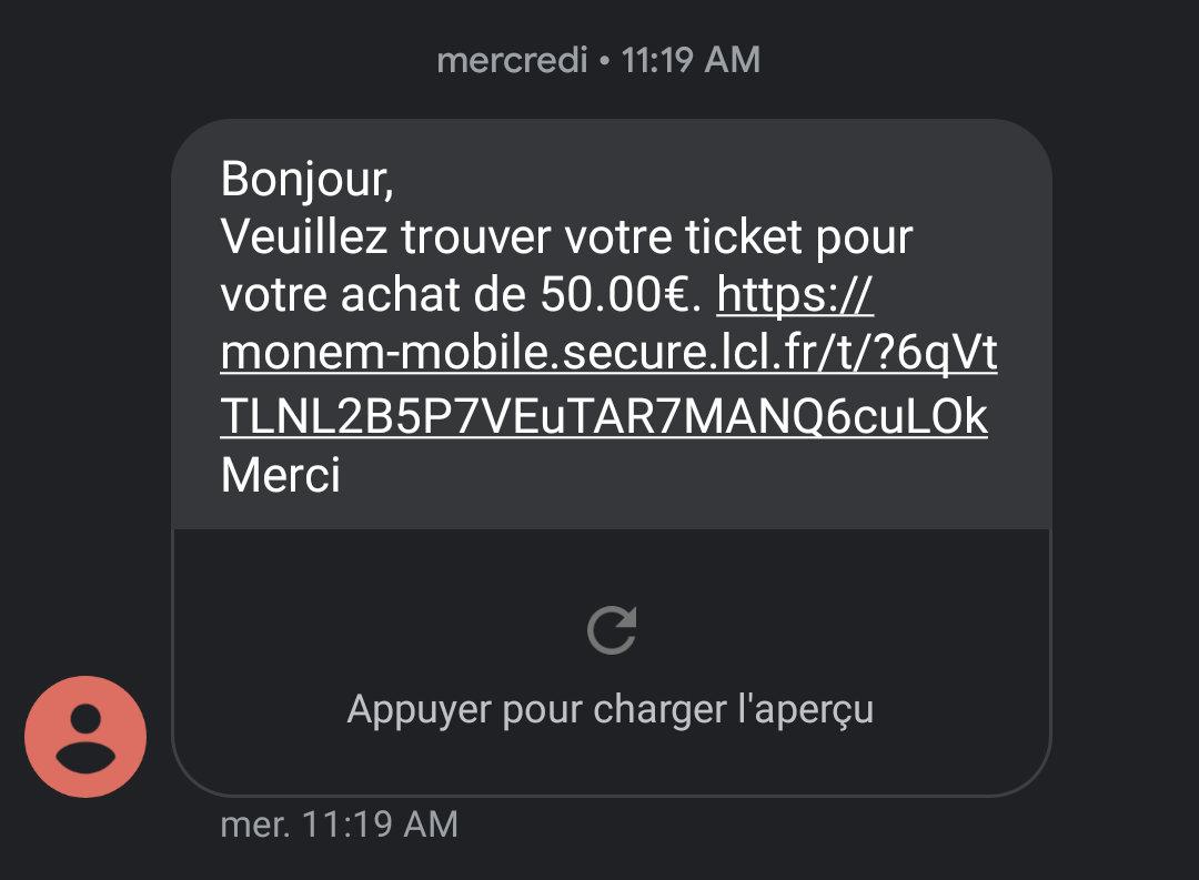 Un SMS frauduleux contient souvent un lien