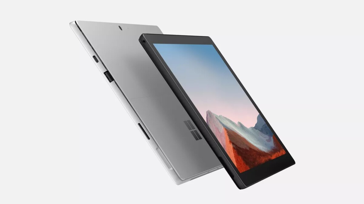 The Surface Pro 7 Plus has no design changes