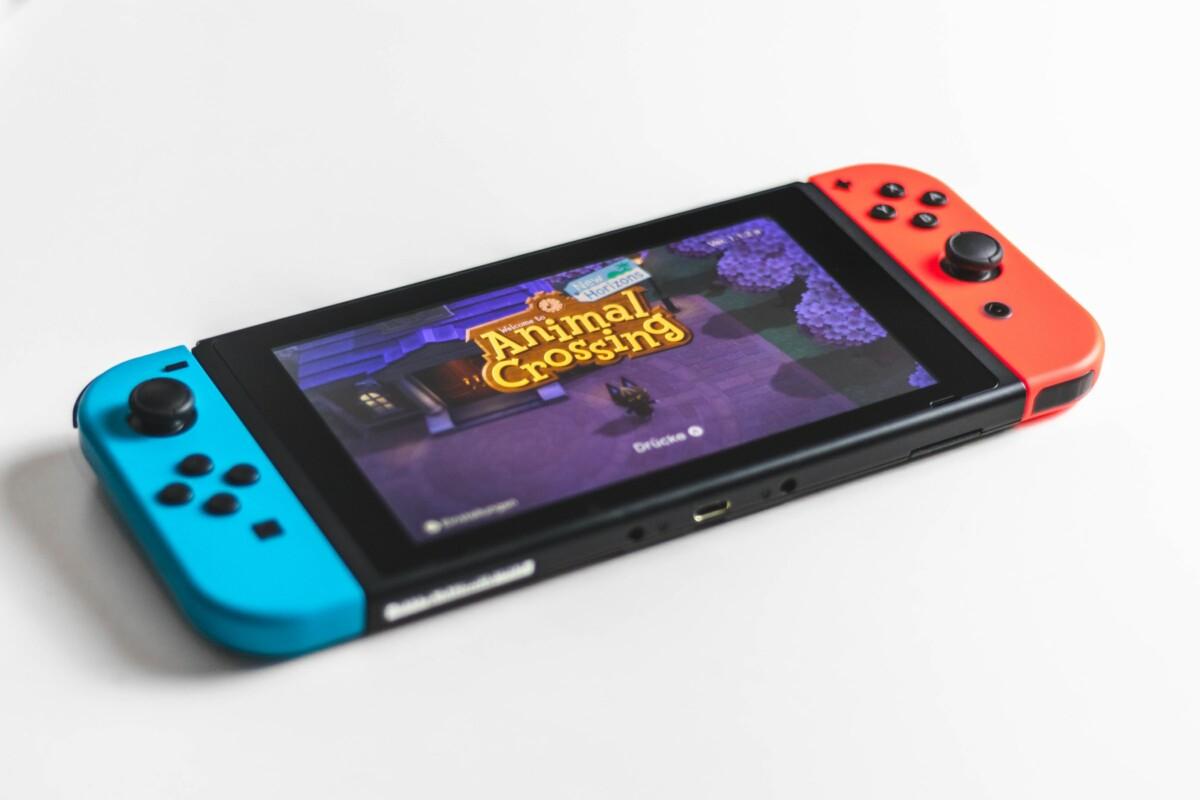 Nintendo Switch avec Animal Crossing