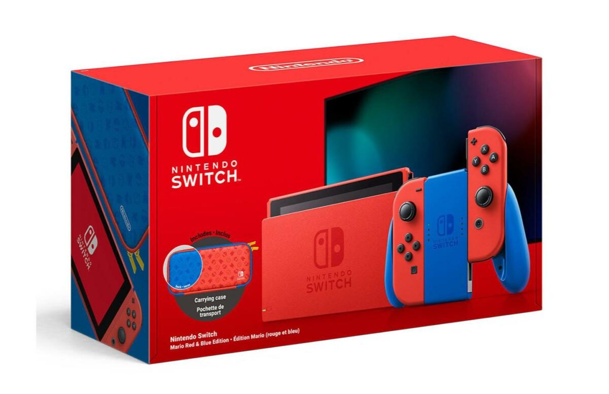 La Nintendo Switch édition limitée Mario est en promotion pour les soldes
