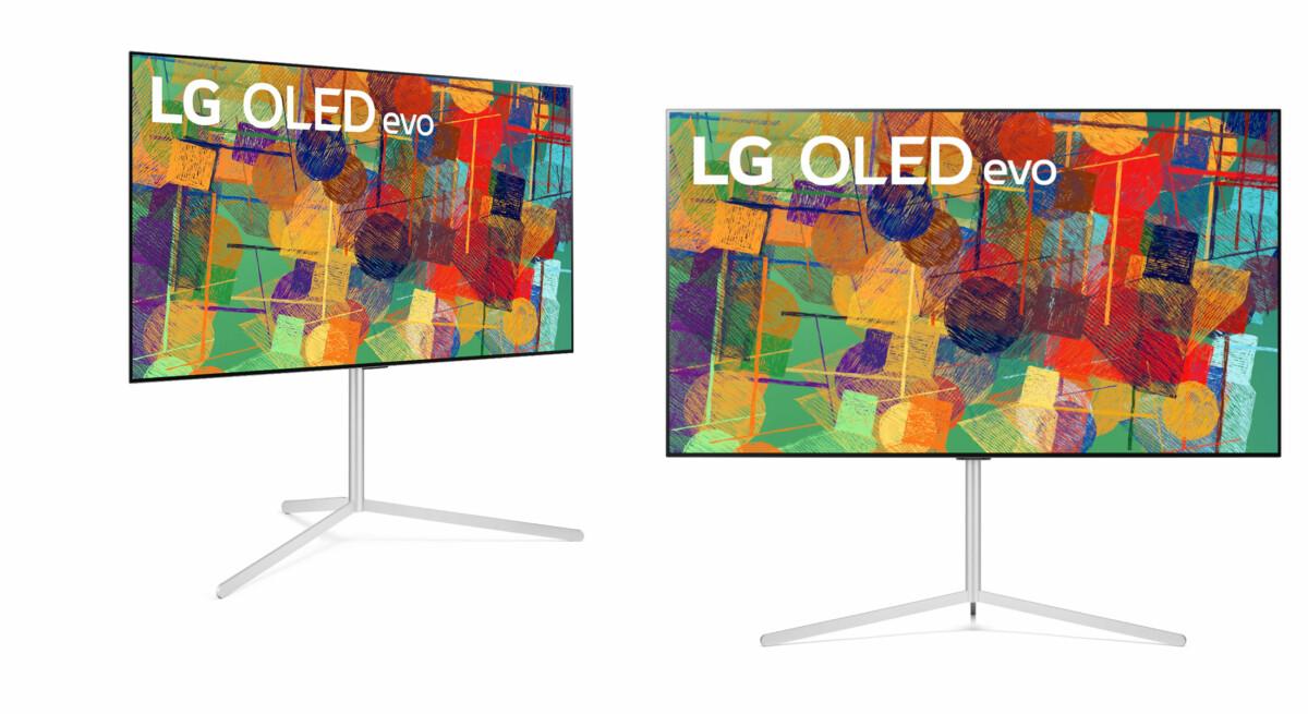 L'OLED G1 avec son pied «Gallery Stand» proposé en option