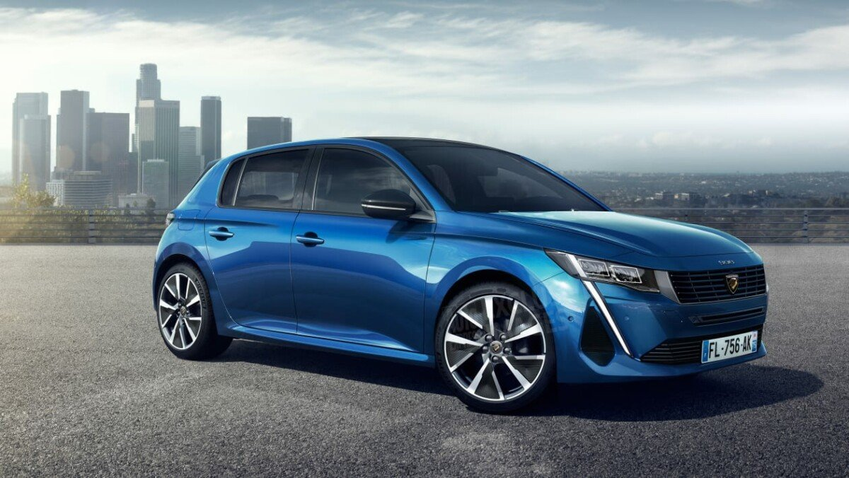 The future Peugeot e-308 imagined by Auto Express