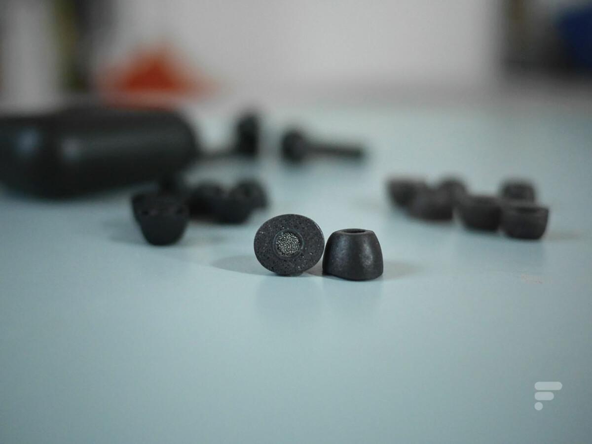 Les embouts proposés par Razer avec ses Hammerhead True Wireless Pro