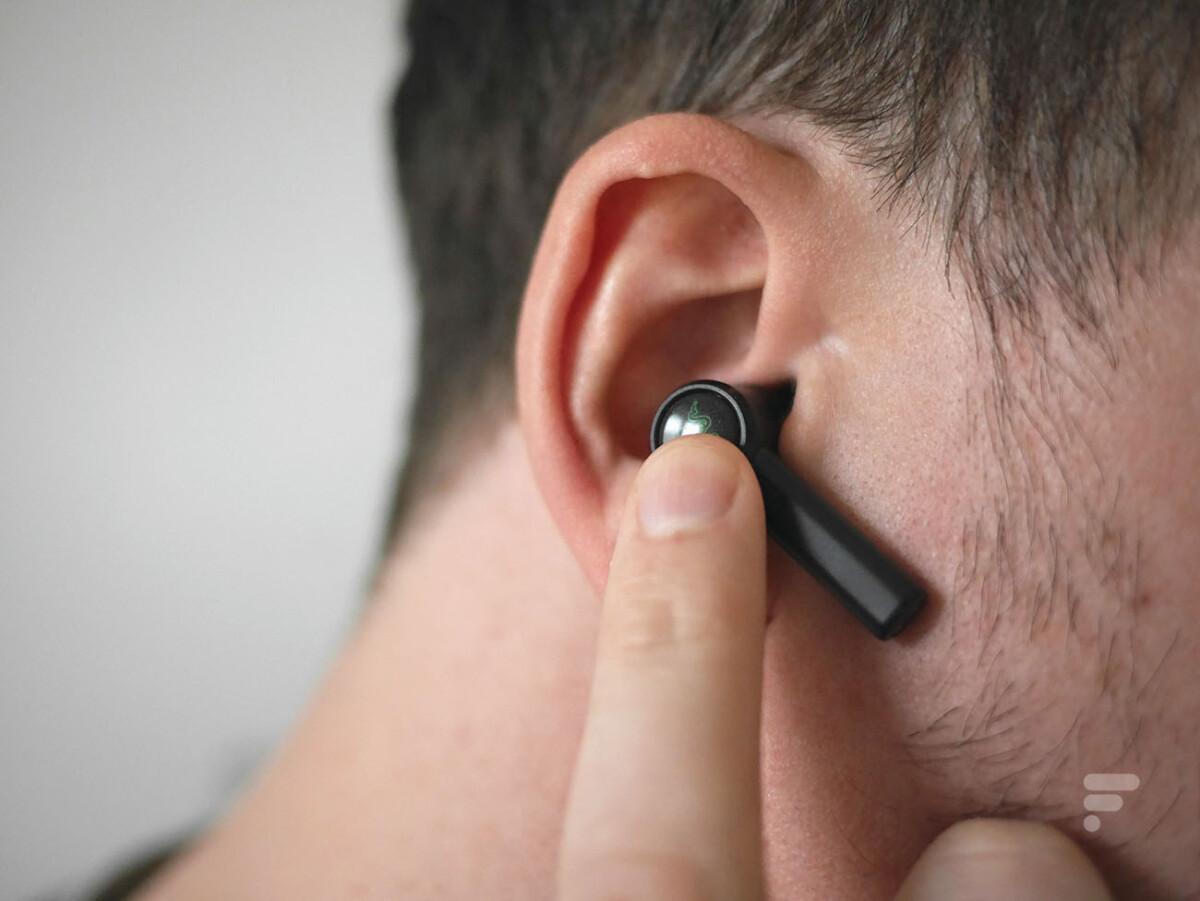 Les écouteurs Razer Hammerhead True Wireless Pro se contrôlent au tactile