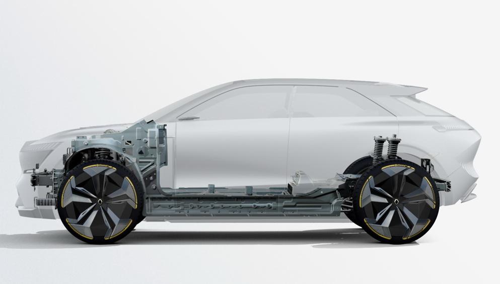 La plateforme CMF-EV de l'Alliance Renault-Nissan-Mitsubishi.