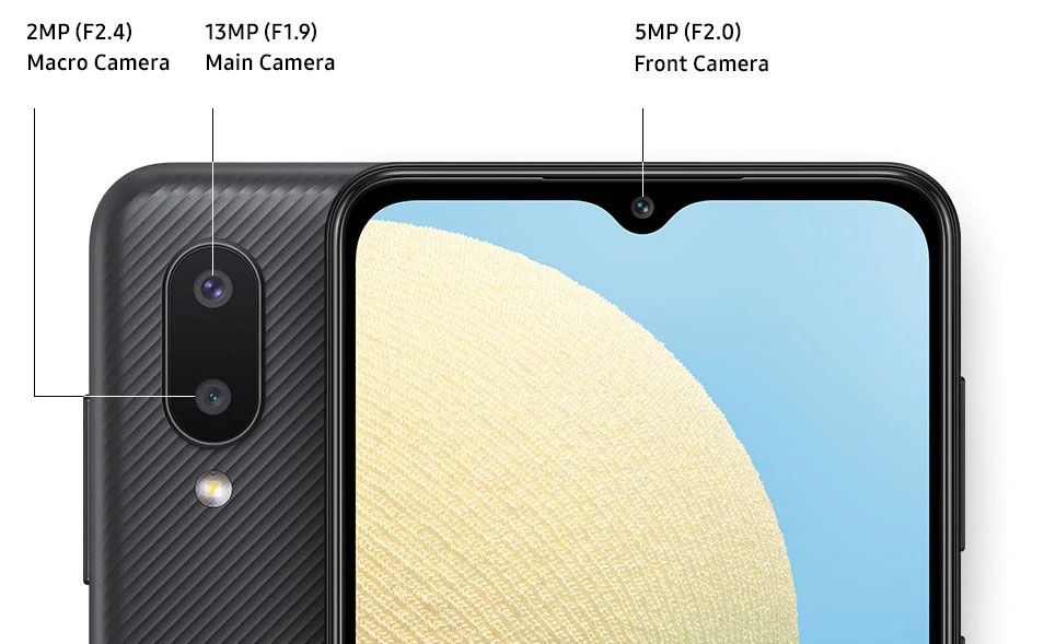 The photo module of the Samsung Galaxy A02