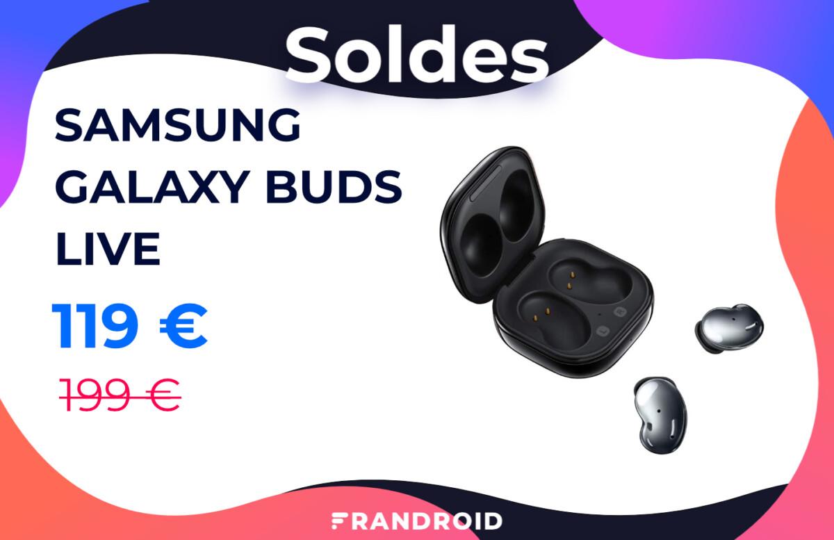 Amazon propose une réduction de 80 € sur les Samsung Galaxy Buds Live