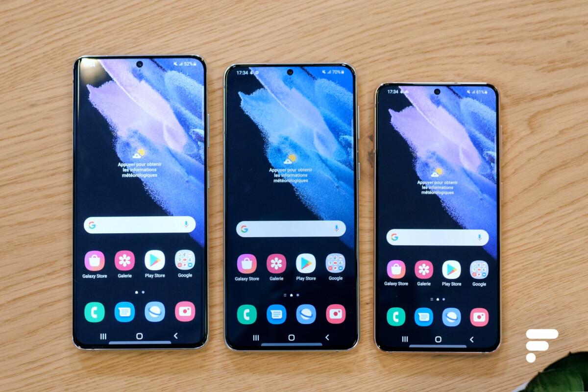 Les trois Samsung Galaxy S21