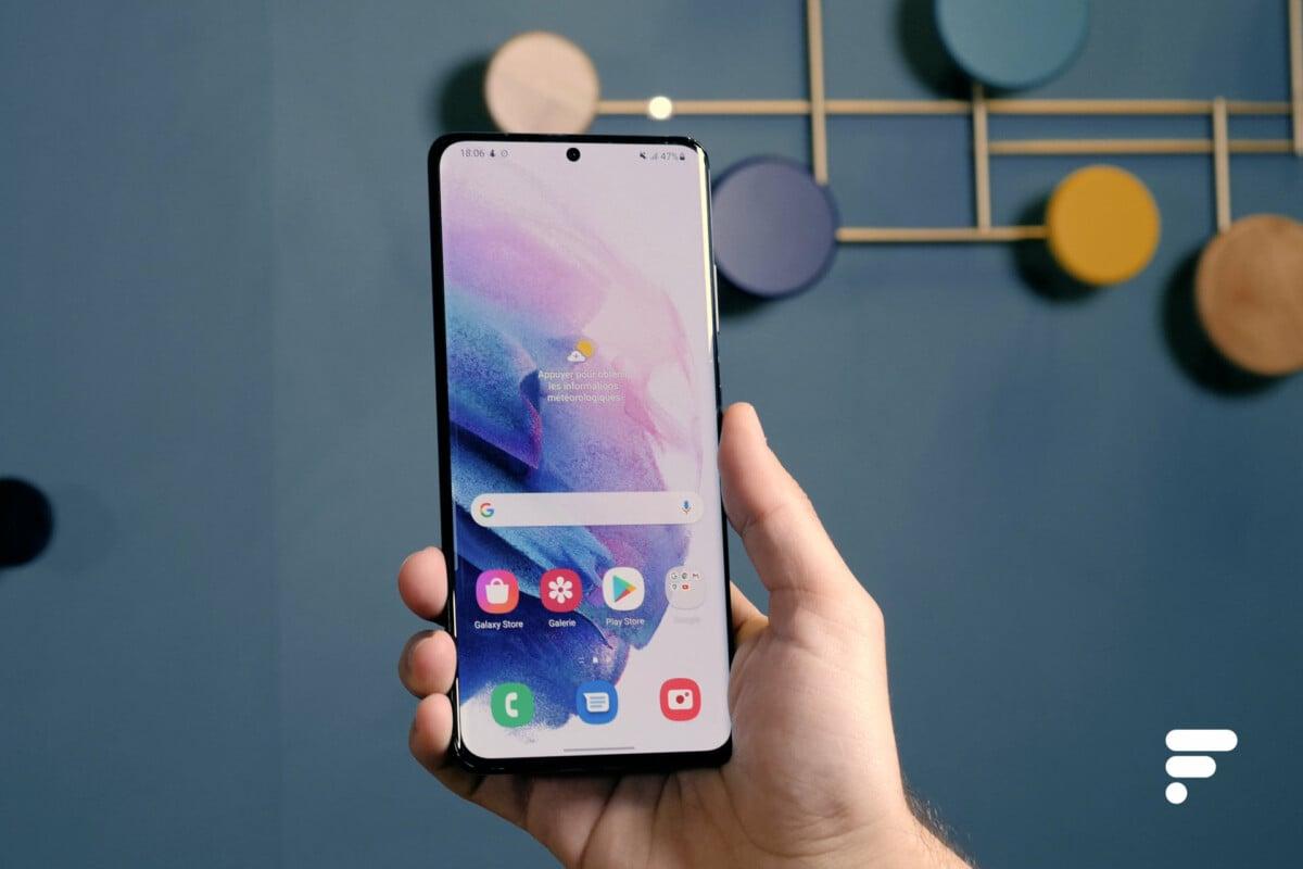 Samsung Galaxy S21 Ultra en main