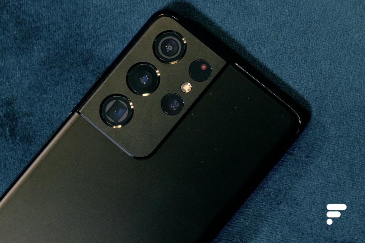 Module photo du Samsung Galaxy S21 Ultra