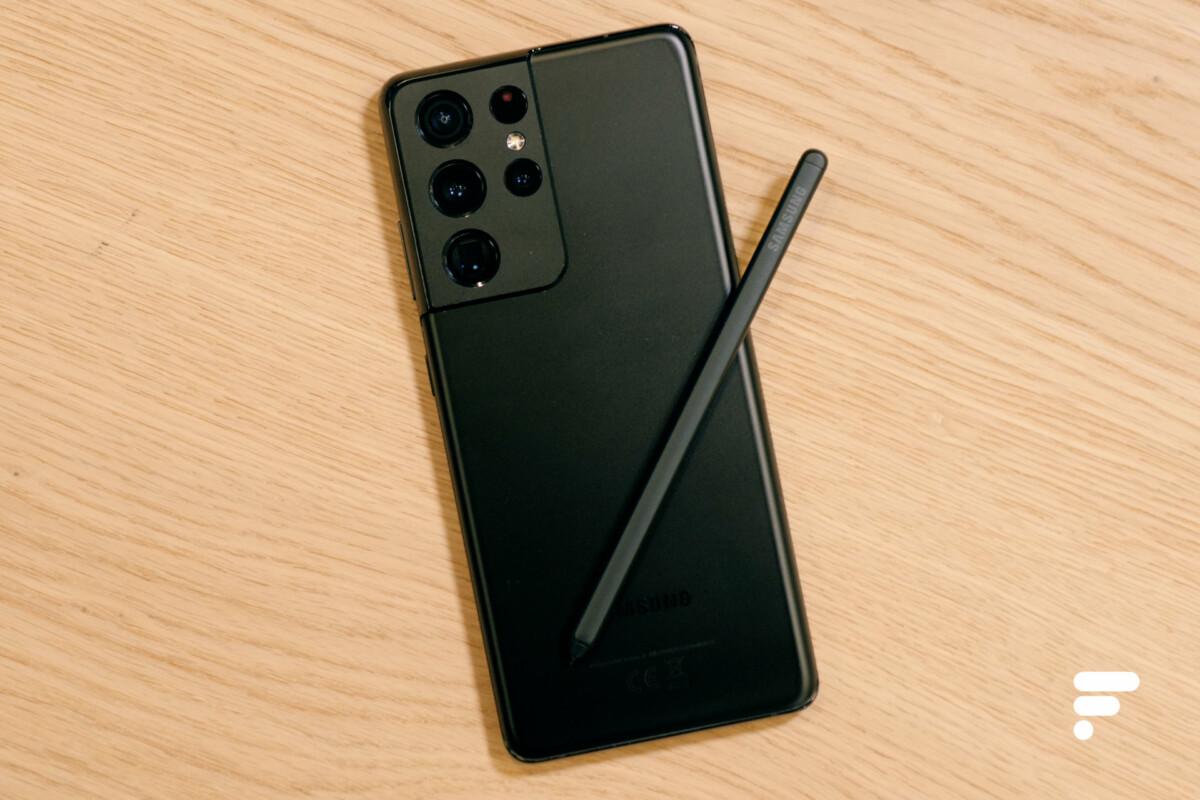 Samsung Galaxy S21 Ultra et stylet S Pen