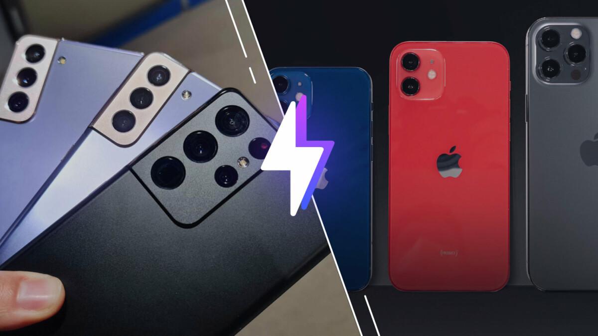 Samsung Galaxy S21 (Ultra) vs iPhone 12 (Pro) : le choc des titans