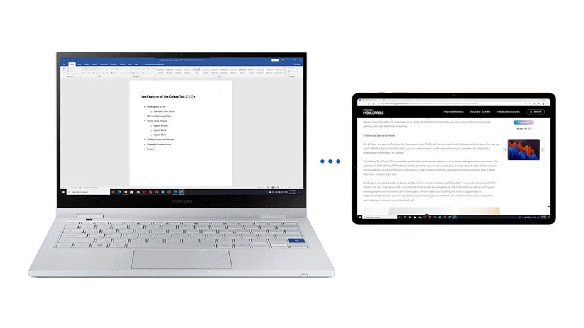 Le Galaxy Tab S7 devient un second écran de PC