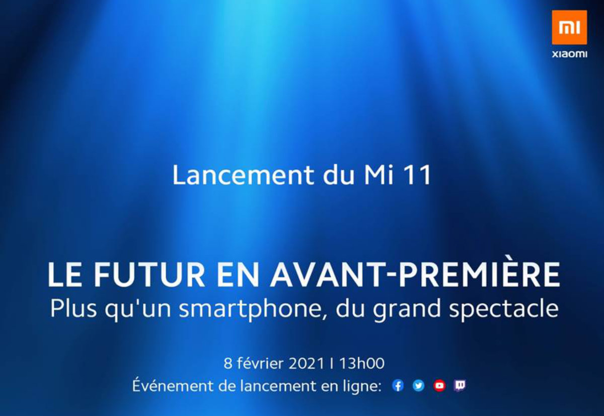 Xiaomi Mi 11 lancement France