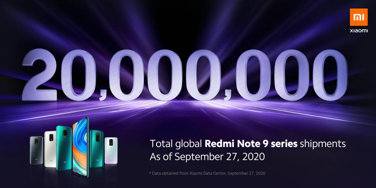 Xiaomi Redmi Note 9 ventes