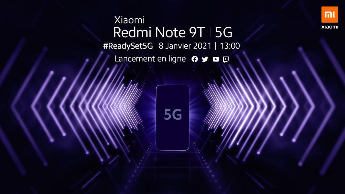 Xiaomi Redmi Note 9T launch