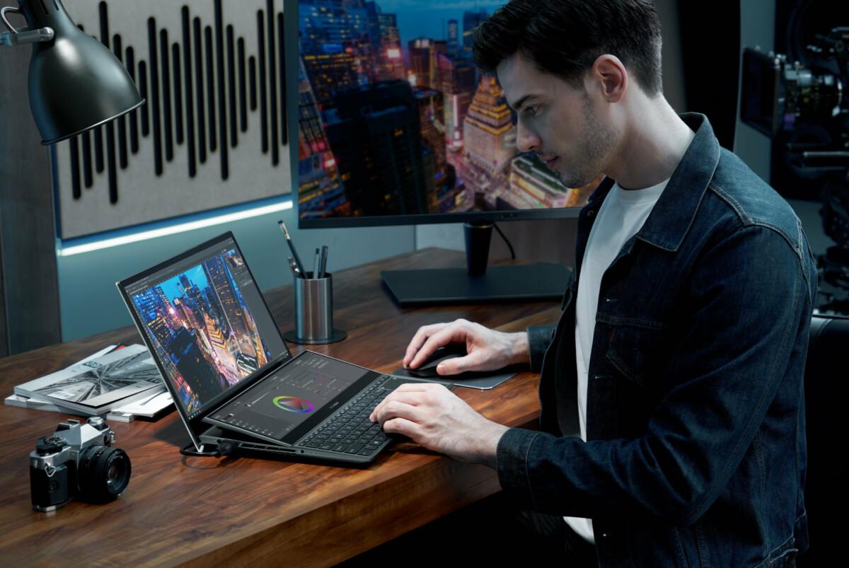 Double écran, RTX 3000, dalles OLED : Asus présente sa nouvelle gamme de ZenBook pour 2021