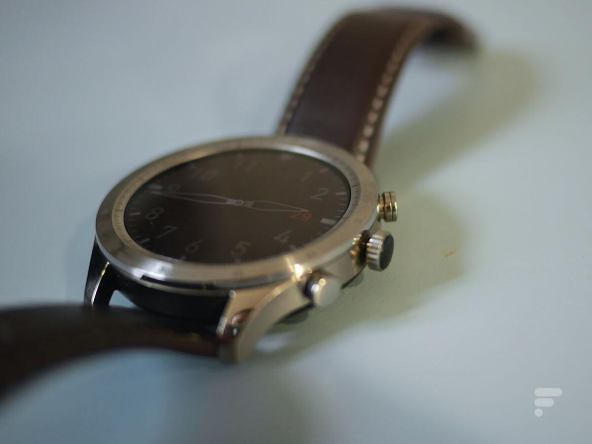 Les boutons de la montre connectée Zepp Z