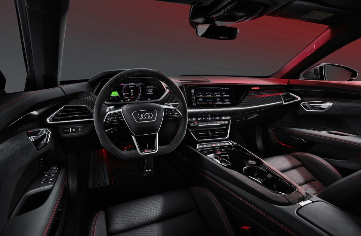 Cockpit de l'Audi e-tron GT quattro