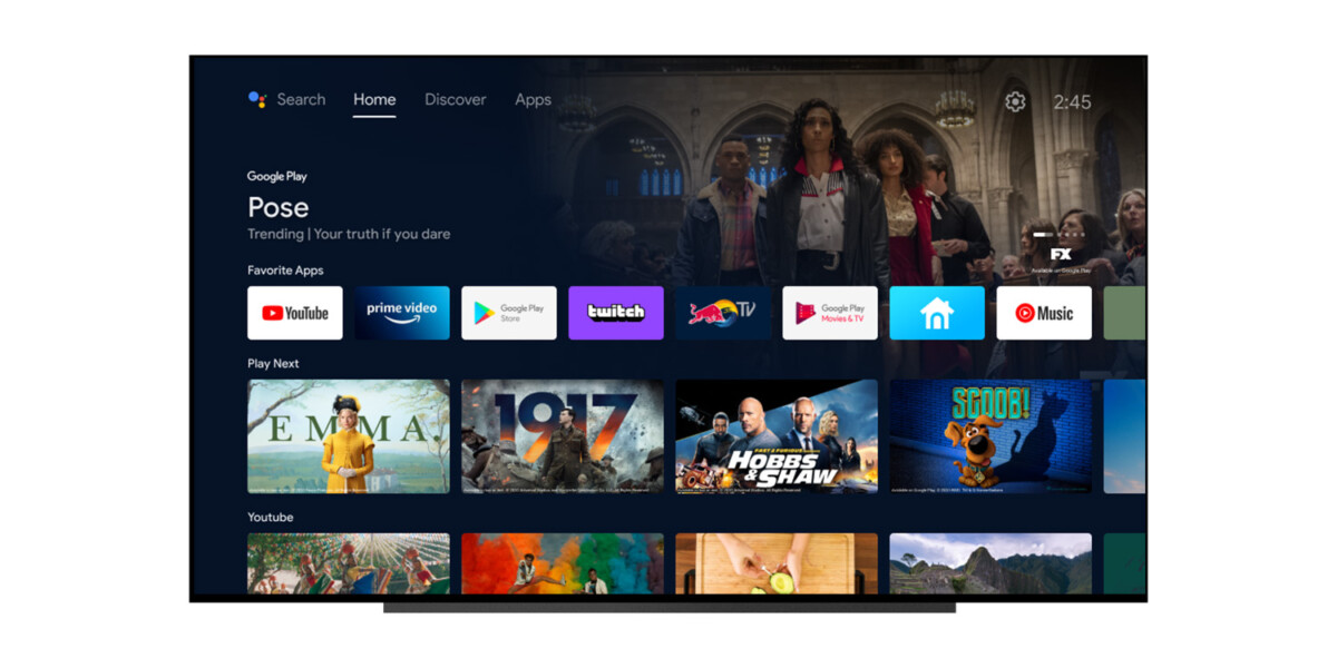 The upcoming update for Android TV