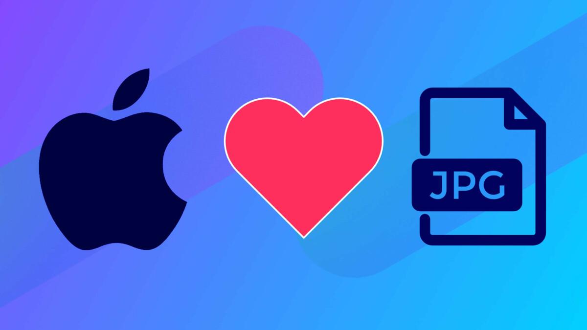 Sauvegarder en JPG sur iPhone