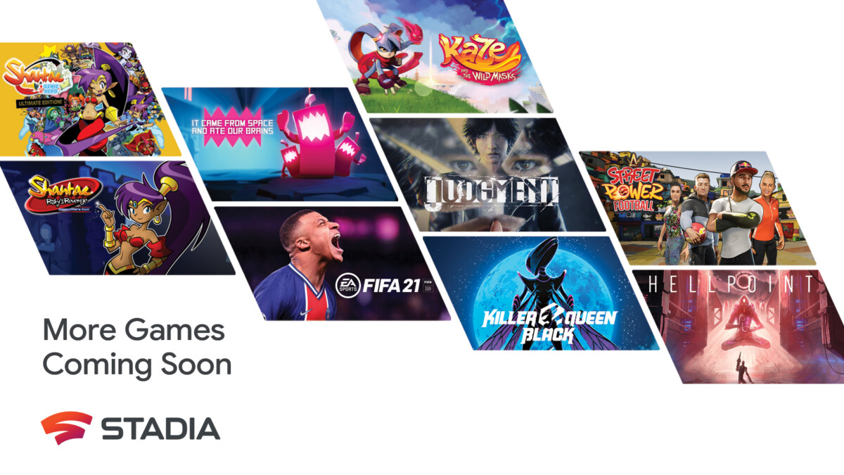 Some of the titles that will make the Stadia library bigger