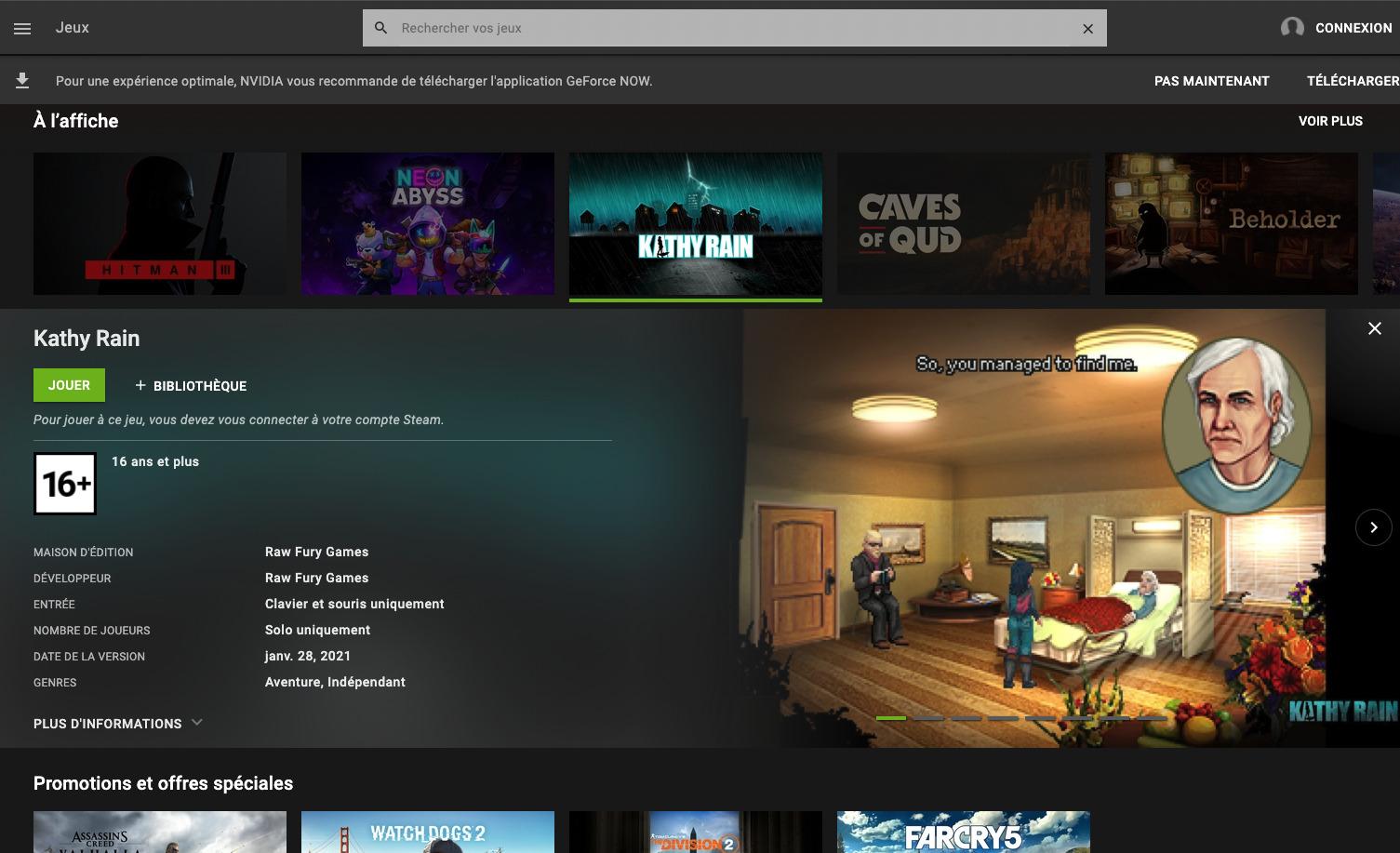 NVIDIA GeForce NOW arrive officiellement sur Chrome pour Windows et macOS