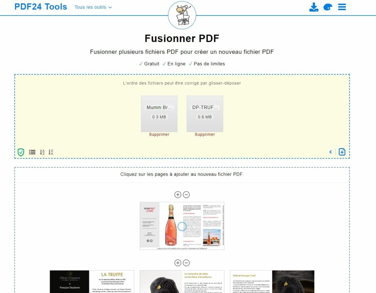 Comment fusionner des fichiers PDF?