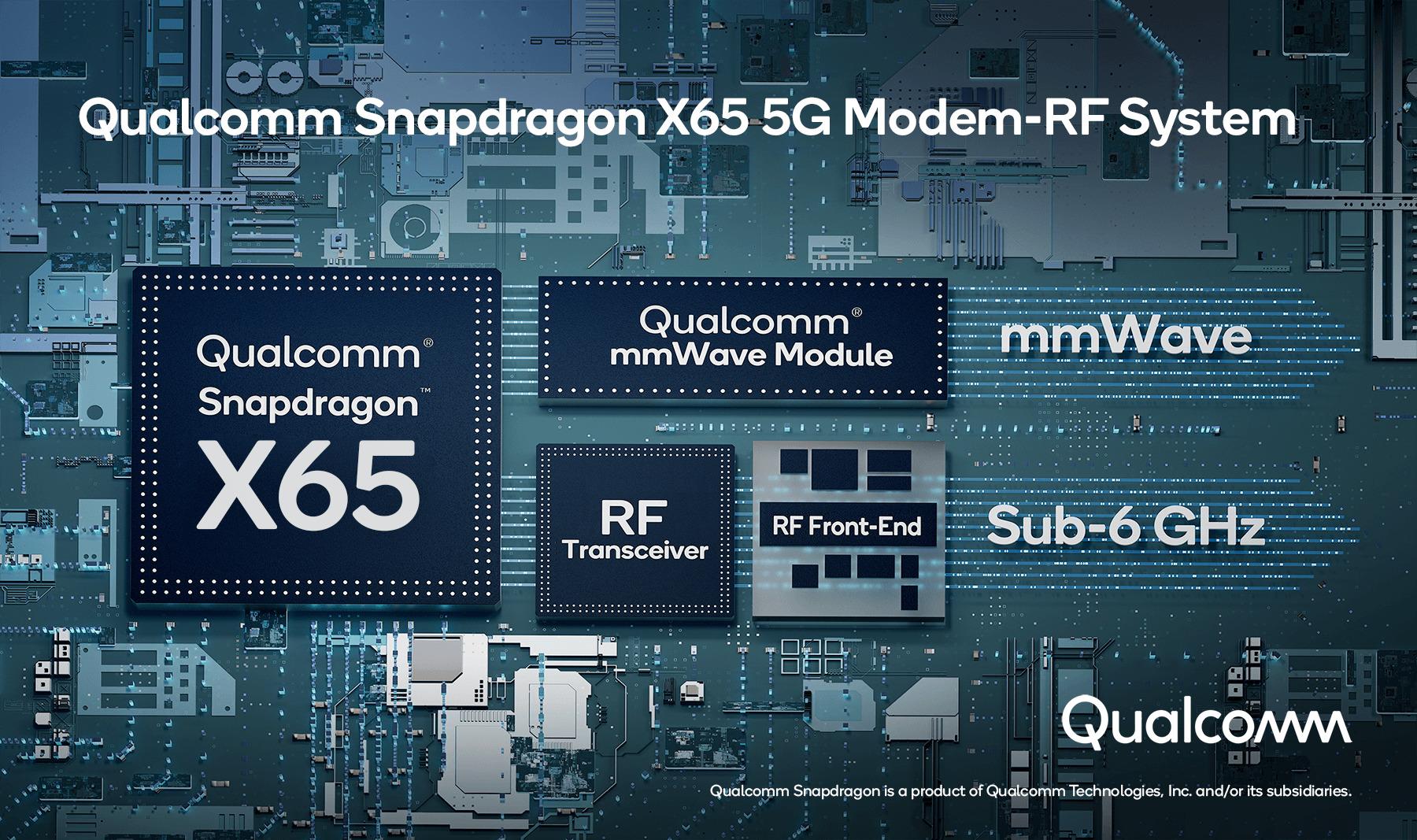 Qualcomm Snapdragon X65 et X62 : voici la nouvelle génération de modem 5G avec des débits jusqu'à 10 Gb/s - Frandroid