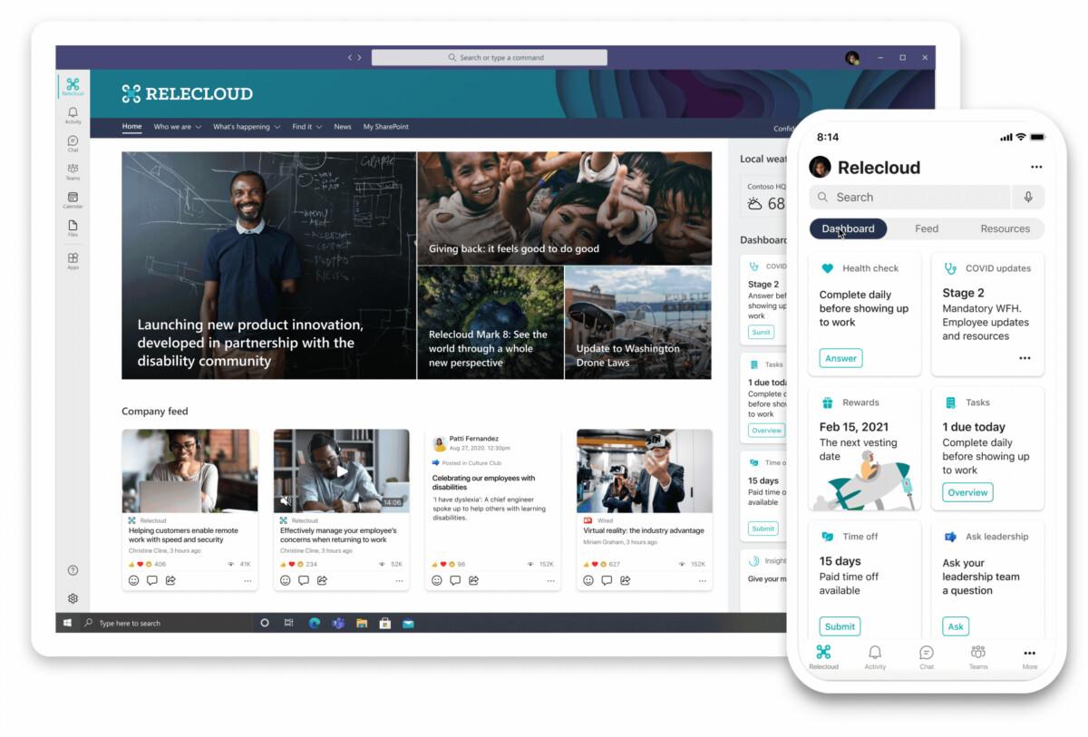 Viva Connections sera accessible sur PC et smartphone