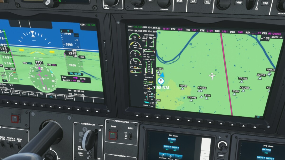 On peut lire chaque instrument et véritablement piloter l'avion