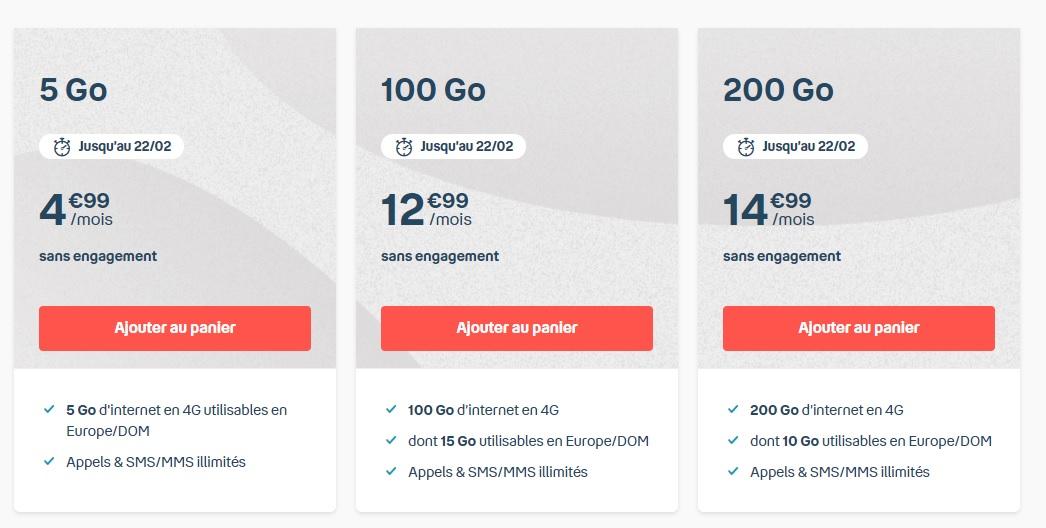 Dernier jour pour les forfaits mobile 100 et 200 Go à moins de 15 € chez Bouygues