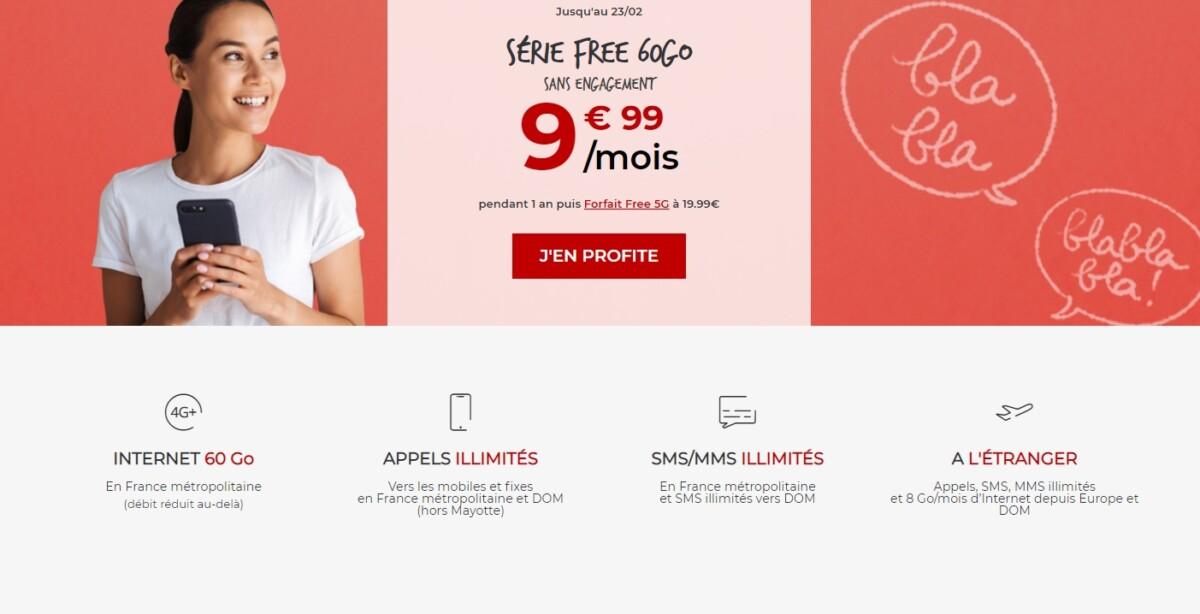 Free est enfin de retour avec un forfait mobile à moins de 10 €/mois
