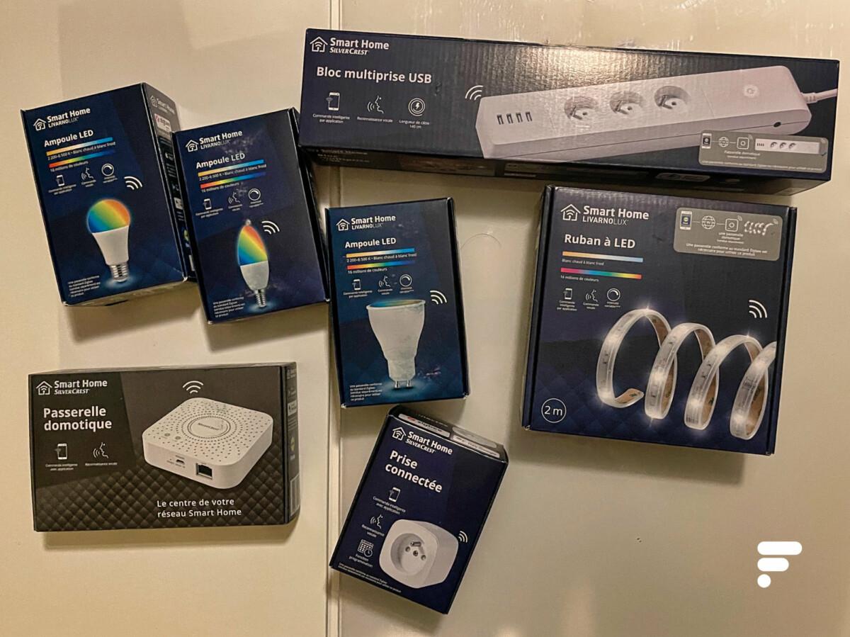 La gamme de produits connectés Lidl Smart Home
