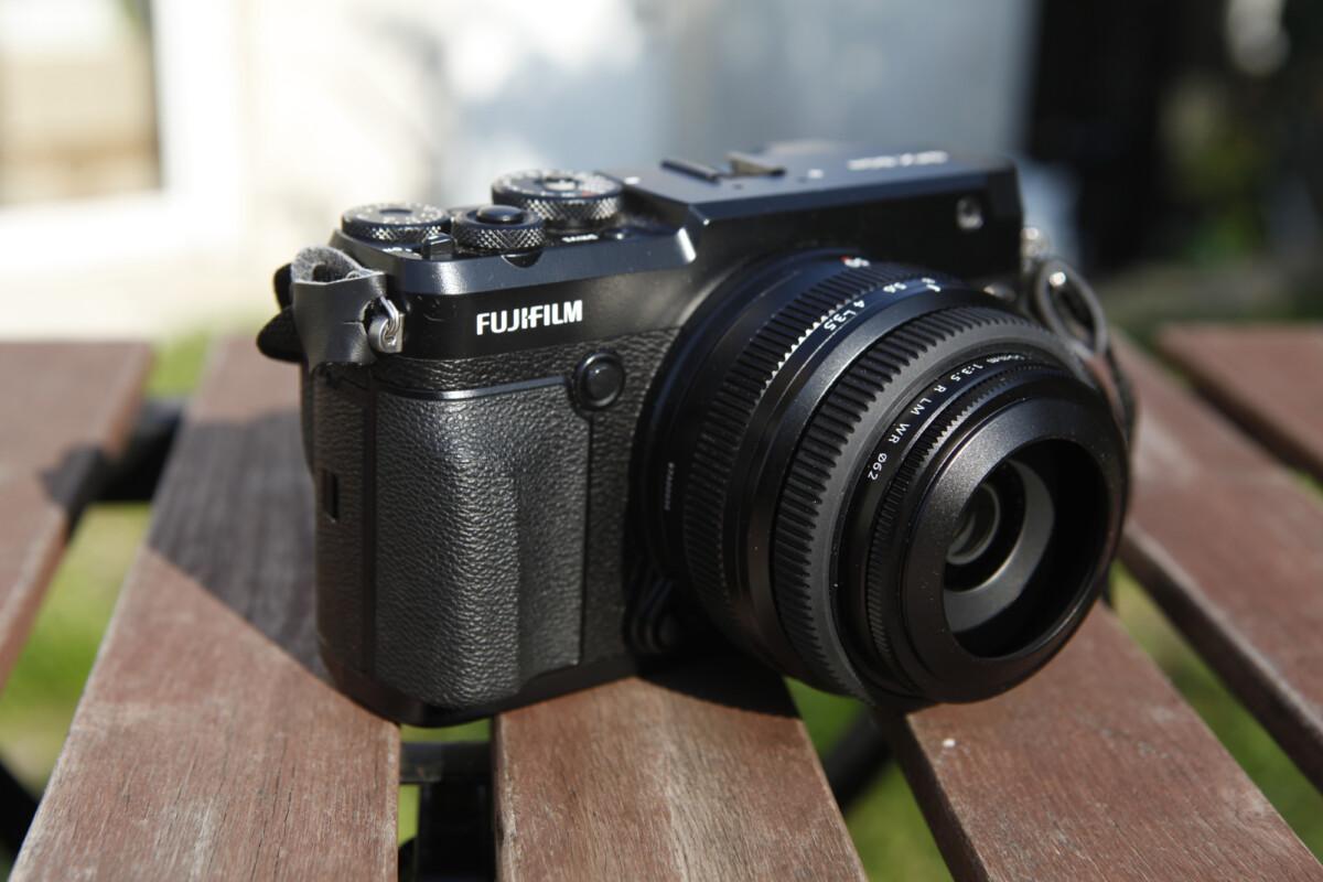 La face avant du Fujifilm GFX 50r