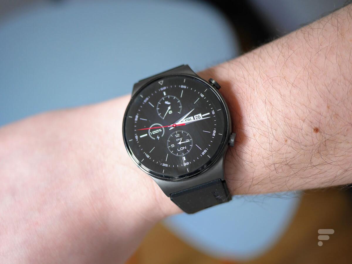 L'écran de la Huawei Watch GT 2 Pro