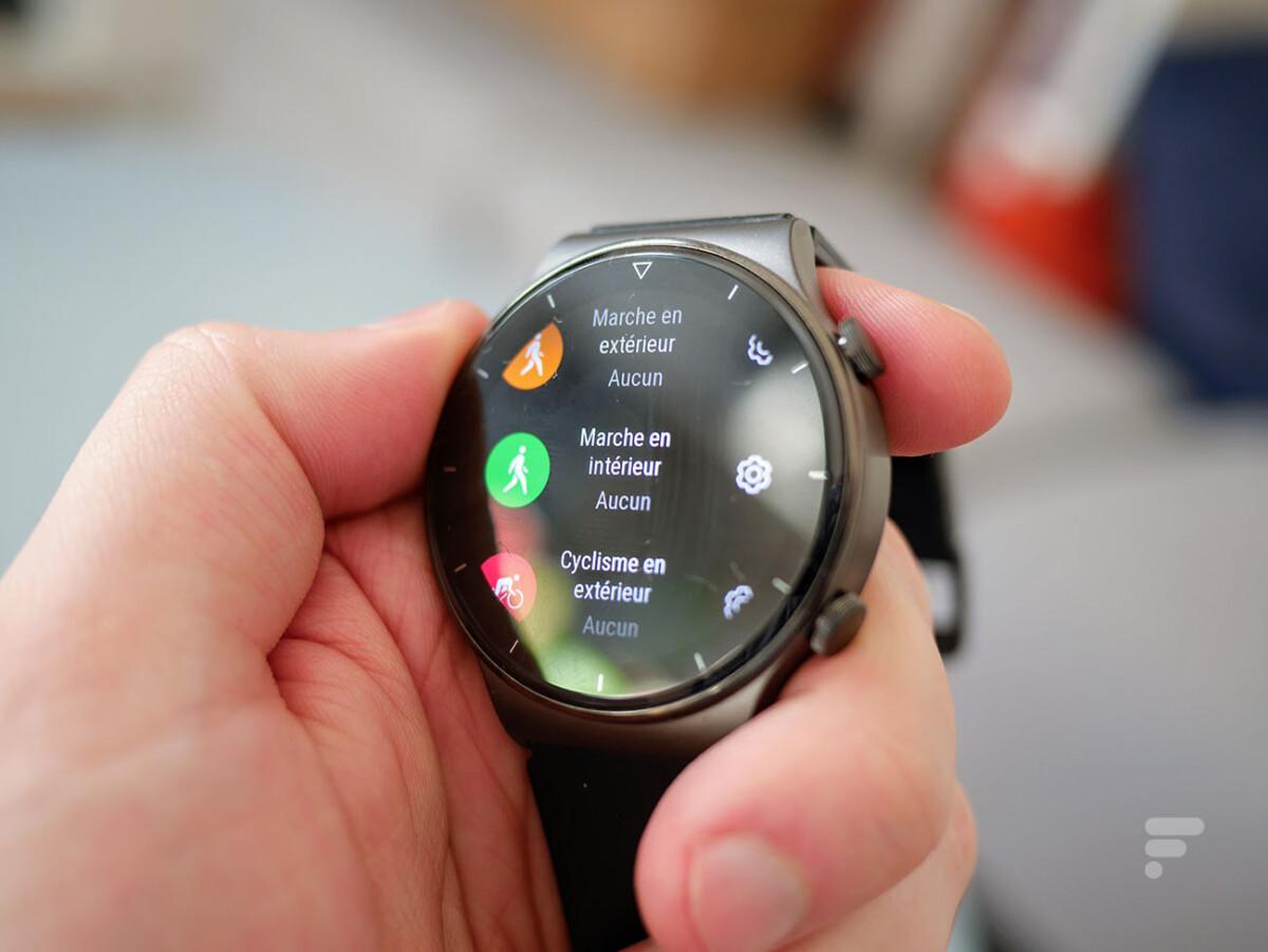 Le suivi d'activité sur la Huawei Watch GT 2 Pro
