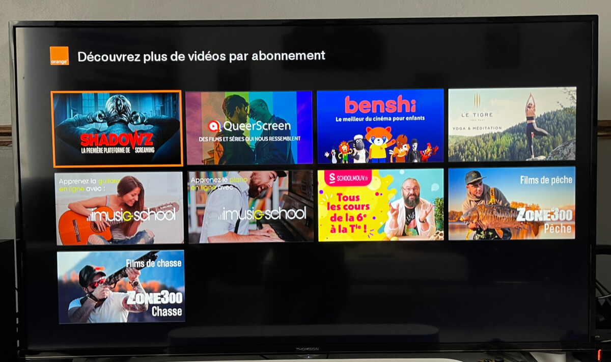 The new SVOD services offered by Orange