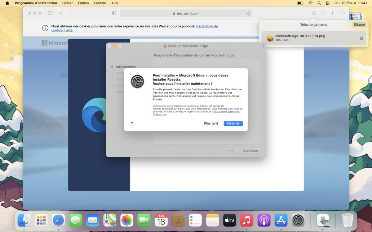 Rosetta est nécessaire pour installer une application Intel x86